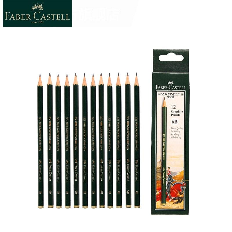 Faber Castell 9000 карандаши для набросков 12/16 шт Faber Castell художественные Графитовые Карандаши для письма затенение эскиз черный свинцовый дизайн Простые карандаши      АлиЭкспресс