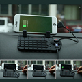 Universal Mobile Phone Car Phone Holder For GPS iPad iPod iPhone Samsung Xiaomi HuaWei Phone Car Holder Two Head Cable