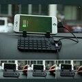 Universal del teléfono móvil del sostenedor del teléfono del coche para gps ipad ipod iphone samsung huawei xiaomi teléfono sostenedor del coche dos cable de la cabeza