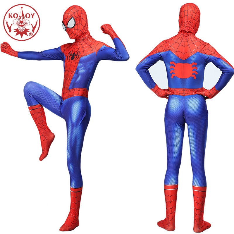 Adult Men Spiderman Peter Parker Cosplay Costume Zentai Spider man Superhero Bodysuit Jumpsuit Halloween