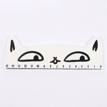 Корейский персонаж креативный канцелярский милый кот стиль деревянная линейка милый мультфильм ученическая линейка 15 см