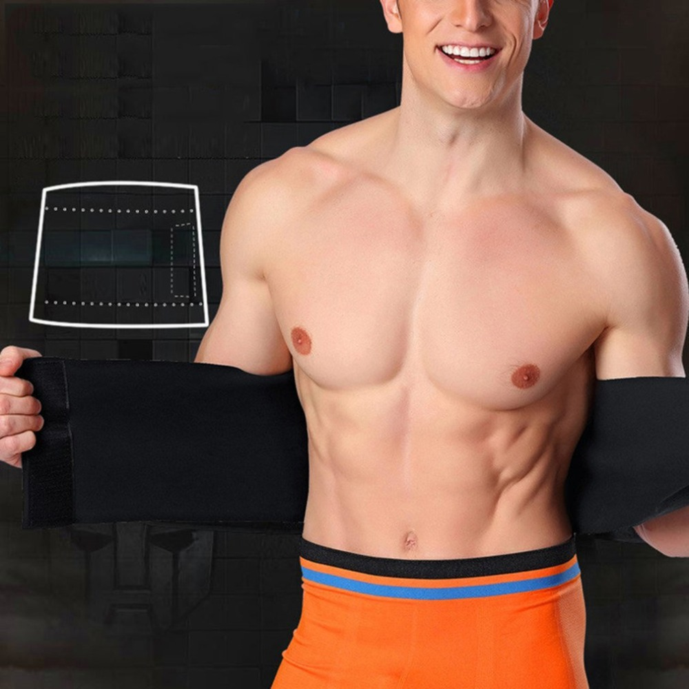 Professional Waist Trimmer Sports Gym Sweat Belt Premium Waist Support For Men And Women Universal Black Neoprene Fitness