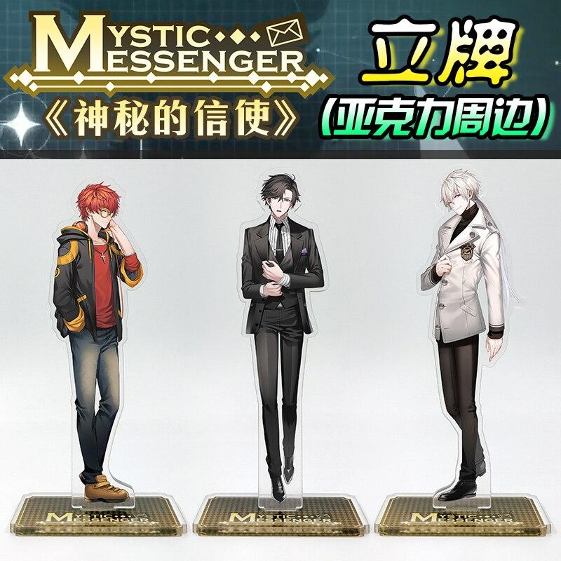 Japanese Anime Mystic Messenger Zen Jumin 707 Cosplay Acrylic Stand Figure Halloween Cosplay Desk Stand Figure Gifts