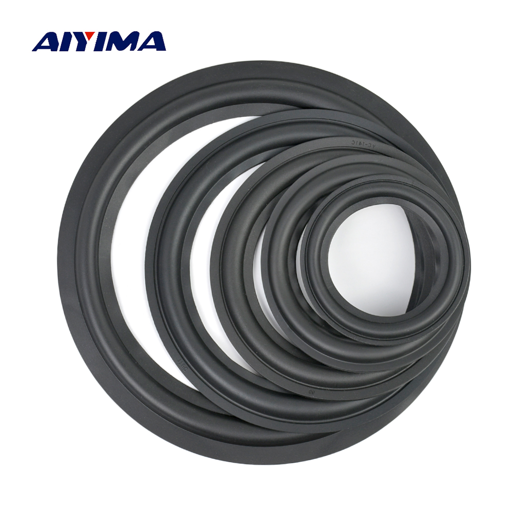 AIYIMA 2Pcs Audio Speaker Rubber Surround 4/5/6.5/8/10 Inch Speakers Rubber Fold Edge Speaker Repair Parts Accessories