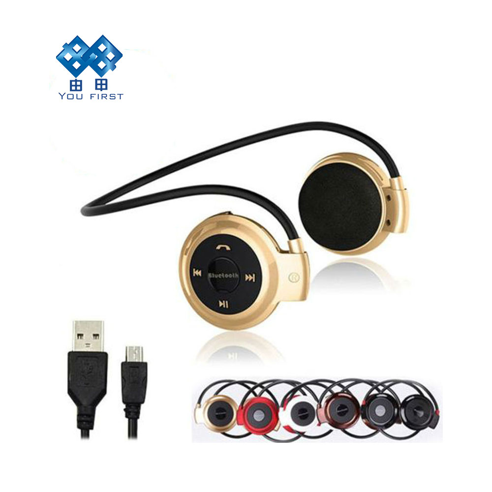 YOU FIRST Wireless Headphones Bluetooth Mini 503 Sport Music Stereo Earphones Micro SD Card Slot FM Radio Mini503 for All Phones ks 508 mp3 player stereo headset headphones w tf card slot fm black