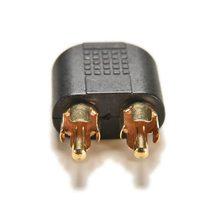 3,5 мм Позолоченные аудио стерео Jack женский для 2 RCA Male Audio Jack разъем адаптера конвертер для Динамик Мощность усилитель