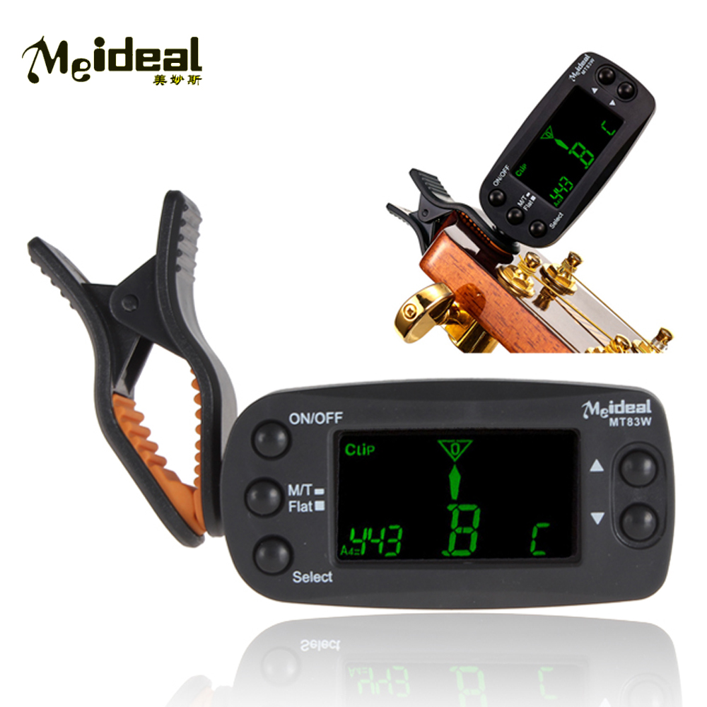 Meideal MT83W Mini Clip-on LCD Digital Tuner Metronome Tone Generator for Chromatic Guitar Bass Violin viola cello Ukulele Parts