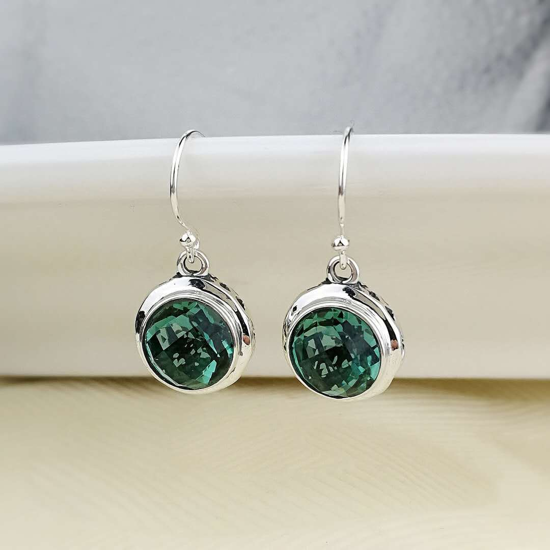 925 women's original hollow out green crystal earrings han edition earrings wholesale sterling silver jewelry fashion цены онлайн