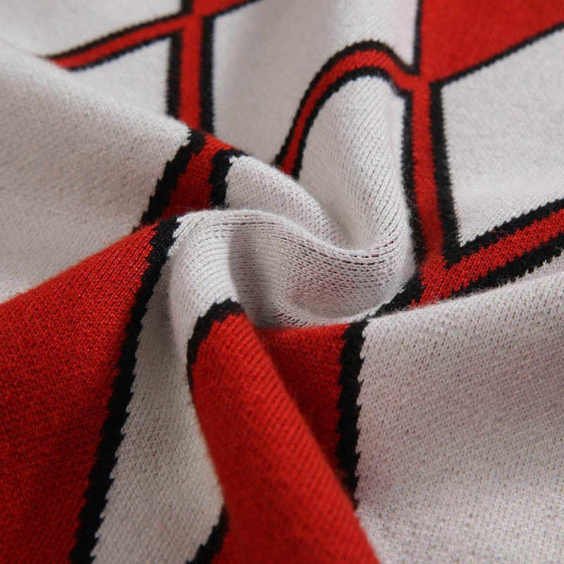 Nowa marka tide duże rozmiary XXL-6XL 7XL męska fala koszula sweter z wełny jesienno-zimowa moda wokół szyi sweter z nadrukiem