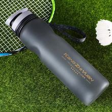 Bpa free 1L Large Capacity Creative Sports Plastic My Water Kettle Portable Tea Infuser flip lid cup Frosted Bottle With Rope