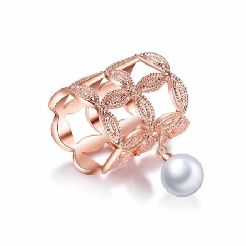 Hot Sale Fashion Women Gold/Silver Color Brooches Imitation Pearl Hollow Camellia Shawl Scarves Buckle Clips Jewelry Gift