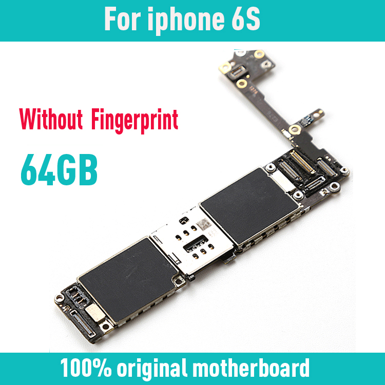 100% Original unlocked for iphone 6S 4.7inch Motherboard without Touch ID,64gb for iphone 6s Mainboard with Chips,Free Shipping