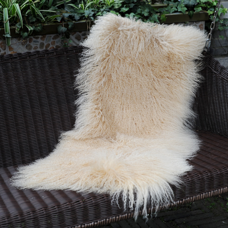 Smart Cx-d-24p Chair Sofa Covers Solid Mongolian Lamb Fur Blankets Great Quality Warm Carpet Blankets