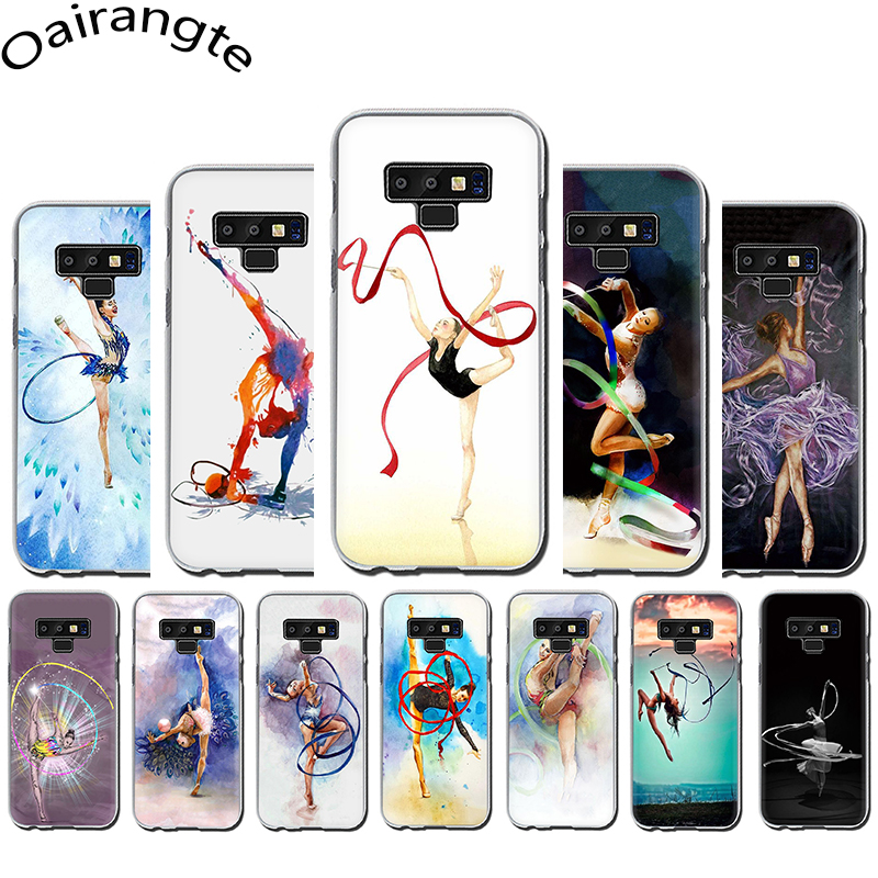 painting Color ribbon <font><b>gymnastics</b></font> Hard Phone Case for Samsung A3 A5 A6 A8 Plus A7 A9 A10s 20s 30s 40s 50s 70 image