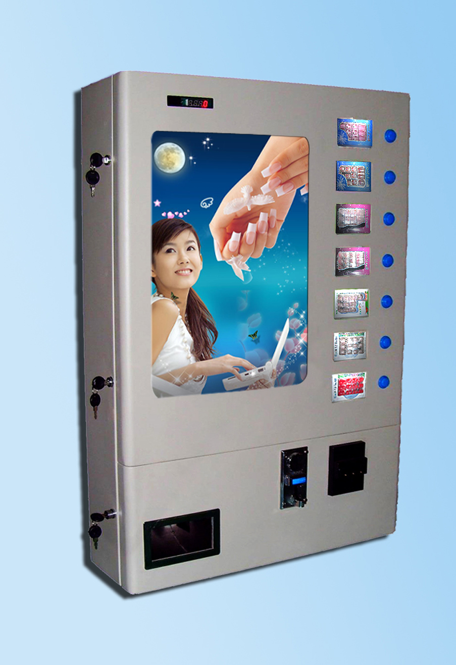 small commodity  vending machine, condom vending machine, wall-mountable vending machine, table vending machine инструменты для выпечки ali commodity cookie