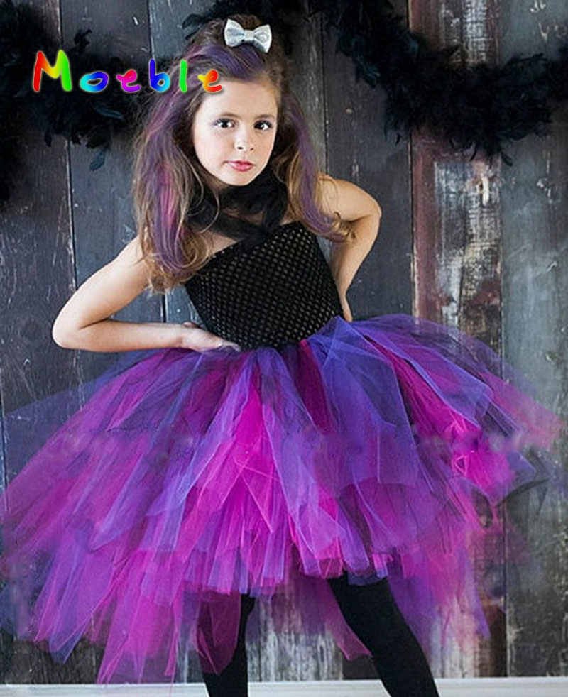 Wild Queen Girls Tutu Dress Baby Girl Dress Birthday Gift Photo Prop Children Kids Halloween Costume Cosplay Tutu Dresses