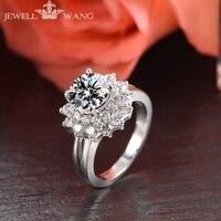 Ювелирные кольца с муассанитом Роскошные мефеи Диана 1.00CT карат сертифицированные 18 K золотые кольца для женщин Алмазный боковой камень сва