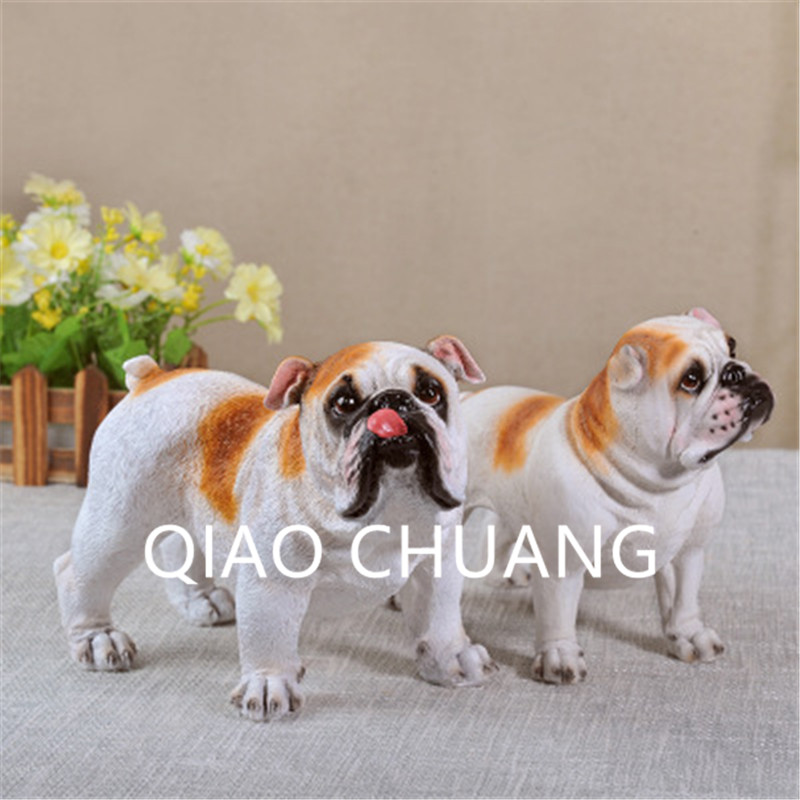Creative Simulation Static Model Gundogs Golden Retriever Bulldog Colophony Crafts Home Furnishing Articles G928