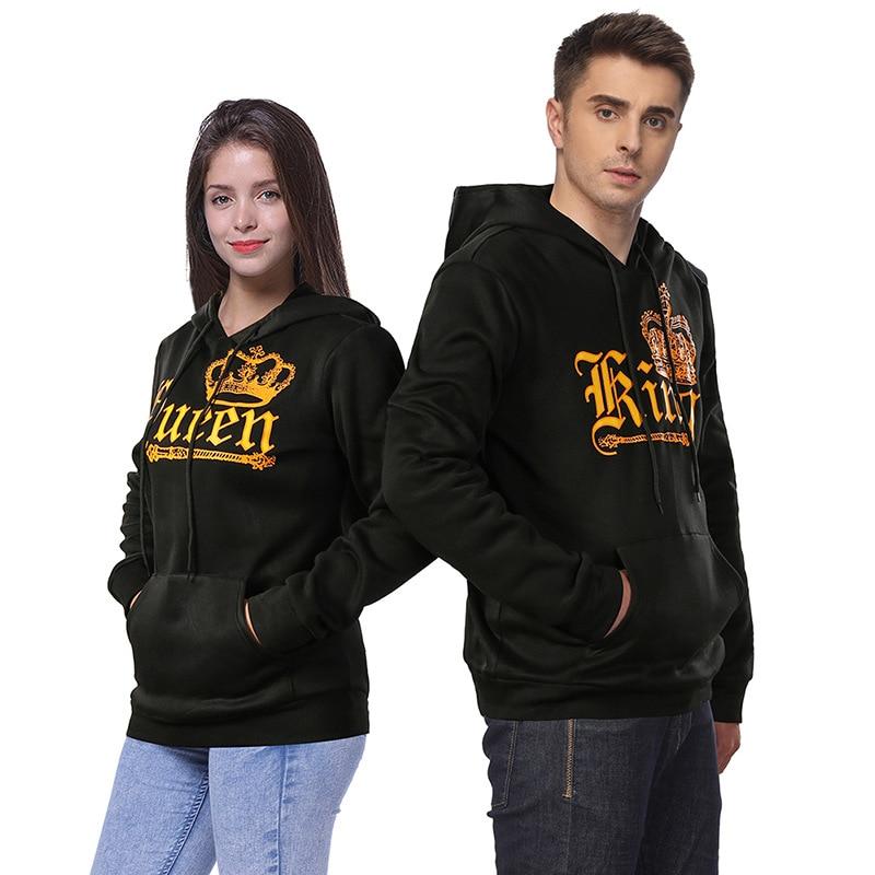 H&R NEW Couple Matching Hoodie King & Queen  His and Her Hoodie Sweatshirt Hooded Jumper