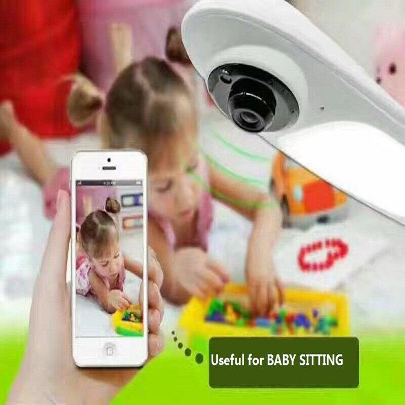 1MP 3D VR Cam WIFI IP Camera Fisheye Lens HD Panorama Cameras  Colorful Smart Table Lamp CCTV Security Camera