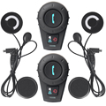 FM + Auricular Suave! FreedConn Impermeable Sin Hilos de Bluetooth Del Intercomunicador de La Motocicleta Casco de La Motocicleta Del Intercomunicador Del Interphone
