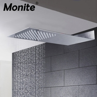 Polished Chrome Finish Ultra Thin Bathroom Square Rainfall Shower Head