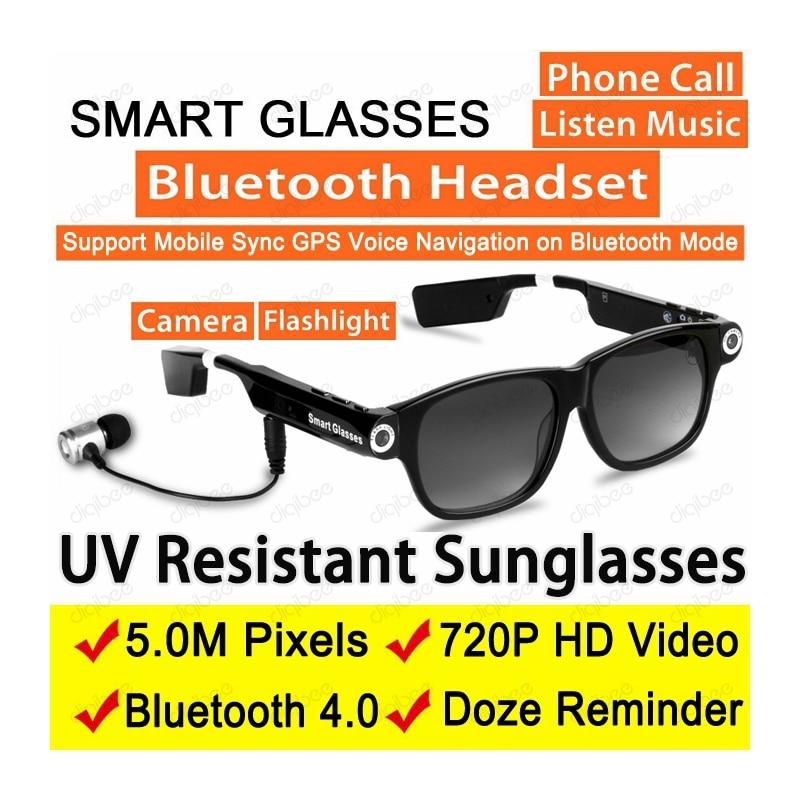 Fashion Wireless Bluetooth Headphone Smart Sunglasses Glasses Camera HD 720P Video Recorder 8GB or 32GB Car DVR Sport Camcorder
