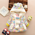Winter 2015  child girls clothes thickening cotton-padded jacket outerwear  wadded jacket 0-1 - 2 -3T