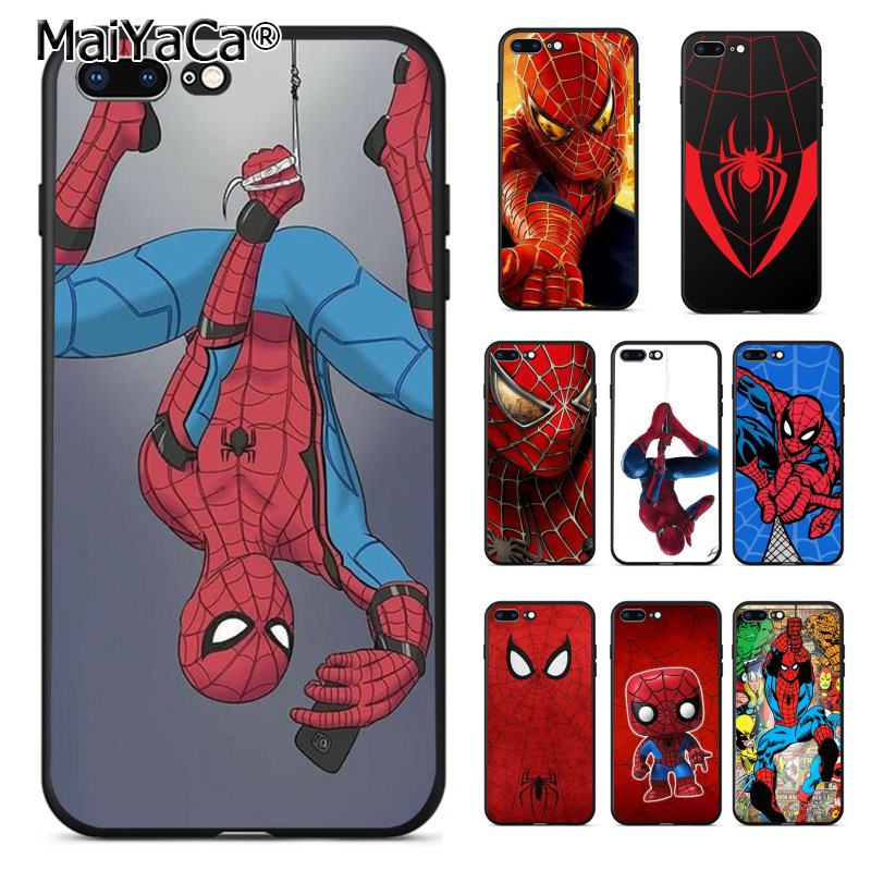 MaiYaCa Marvel Comics Spider-Man Spider Man Homecoming Coque Shell Phone Case  for Apple iPhone 8 7 6 6S Plus X XS XR XSMAX чехлы марвел