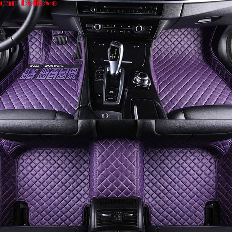 Car Believe Auto car floor Foot mat For fiat 500x freemont palio 500l albea panda car accessories waterproof carpet rugs