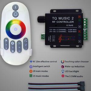 Image 4 - Commande Audio avec télécommande sans fil RF, musique pour bande LED LED de contrôle, 5050, 3528, 5630, 2 canaux RGB, DC 12 24V 18A