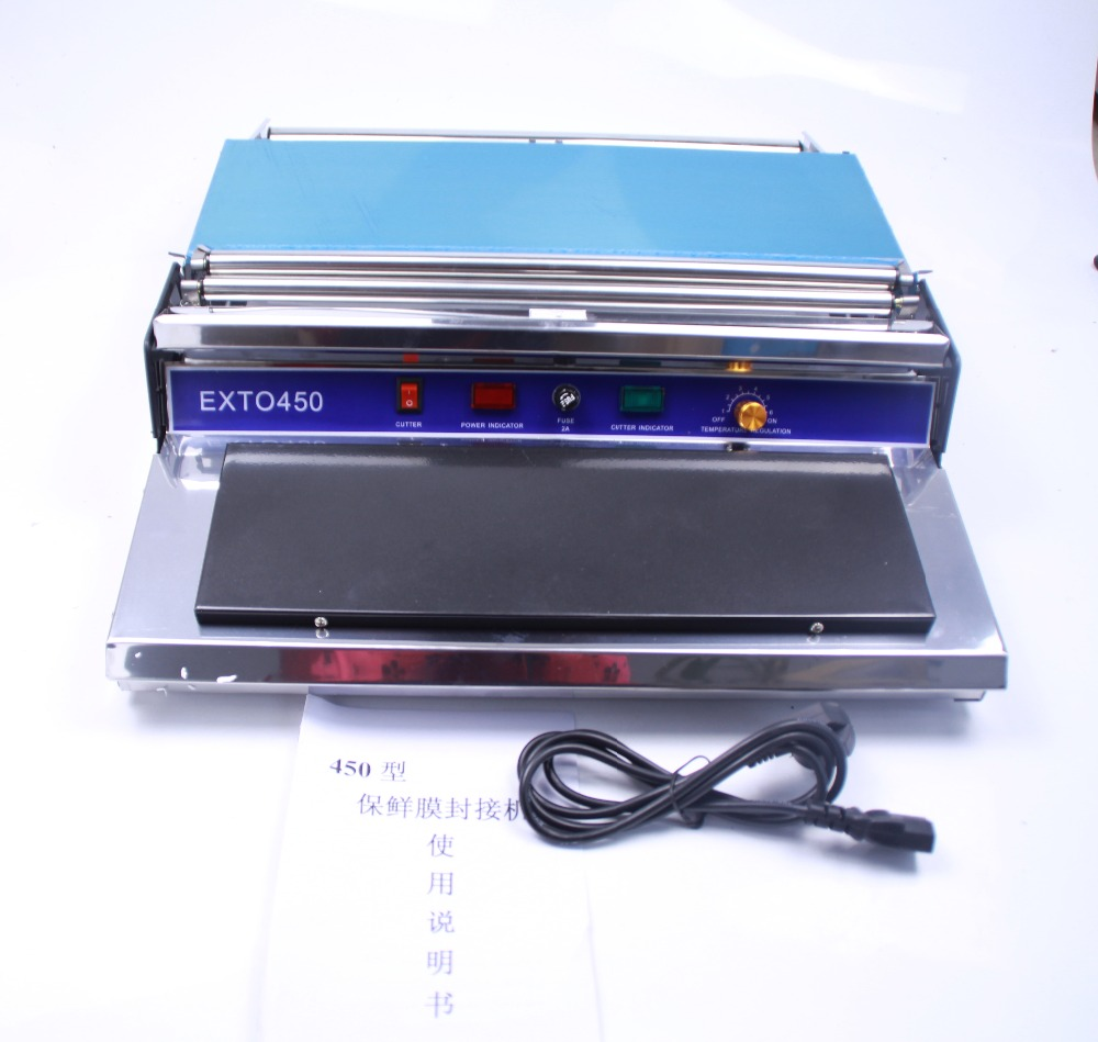 Wrapping Machine Packing Machine Hand Fresh Plastic Film Wrapper For Food HW-450 220V 55HZ Wrapping Machine