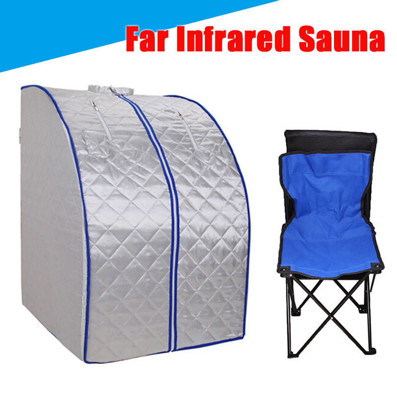 Portable Folding Home Indoor Personal Steam Therapeutic Sauna Spa Full Body Detox-Weight  Remote Control far infrared sauna negative ion detox portable box indoor personal spa dry sauna heater slimming weight loss free shipping