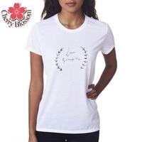 Cherry Blossom Brand Clothing Harajuku T Shirt Women Love Simply Printed Woman Tee Fashion Tops Street Summer T-Shirts Homme