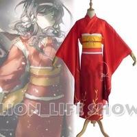 Бунго бродячих собак kyouka Izumi красный кимоно Косплей Костюм с наручные теленка группы