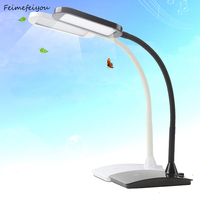 Feimefeiyou LED Desk Lamp 3 Level Dimmable Touch Control Table Lamp Office Light With USB Charging