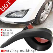 Car Anti scratch strip Door edge guard protection 2PCS/set Front bumper pad soft rubber cover protector Auto Styling Moulding