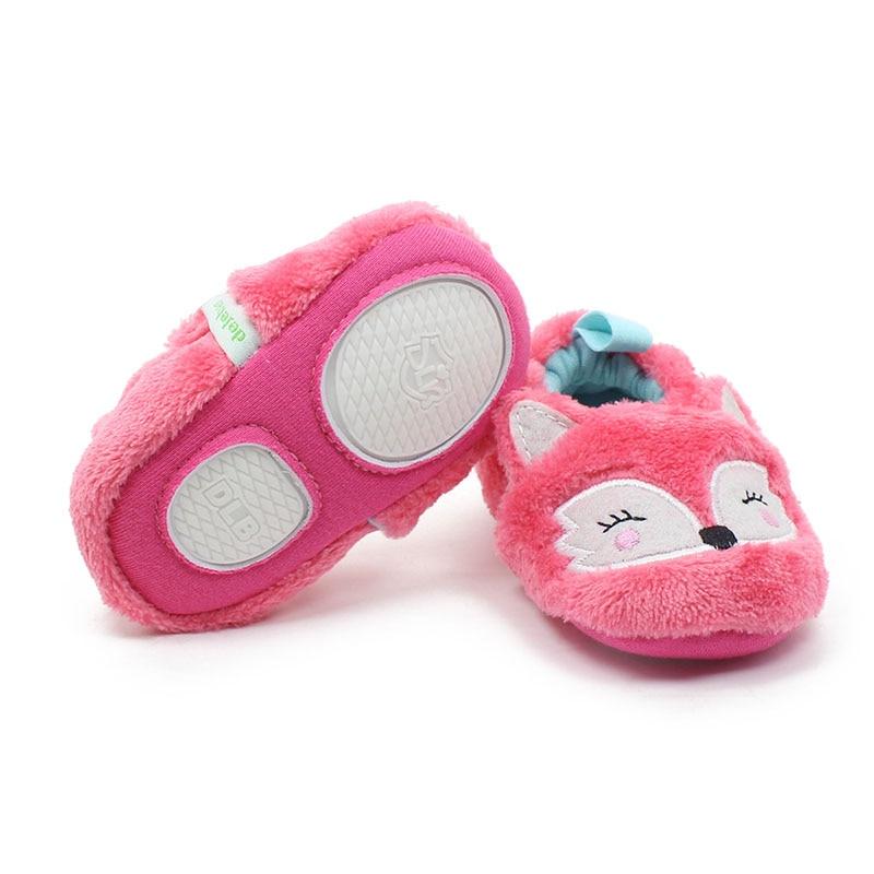 Delebao New Design Schöne Pink Fox Muster Slip-on Gummisohle Unisex - Babyschuhe - Foto 4