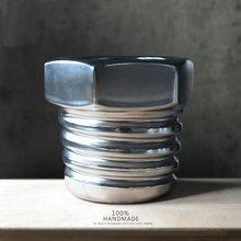 Unique thread screw shape ceramic flower pots Industrial wind retro Handmade ceramic vase Home Decoration