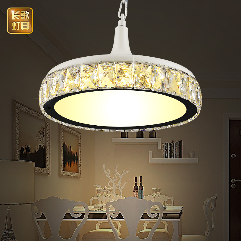LED dining room lamp crystal restaurant pendant lamp single head modern minimalist dining room dining table dining table ring led minimalist european round pendant lamp three creative head table lamp crystal restaurant dining pendant light ta10173