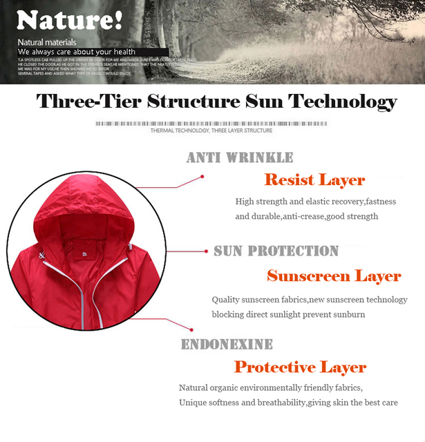 Sun-Protective Night Running Sportswear  Reflective  Bicycle Clothing, MTB Bike ,Hiking Skin Coat Windproof