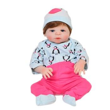 Realistic 57cm100% Full Silicone doll can enter water girl doll  Reborn babies dolls birthday gift toy bonecas brinquedos dolls