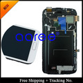 100% tested working Original   For Samsung Galaxy Note 2 N7100  LCD  Digitizer Assembly with frame  -white /Grey