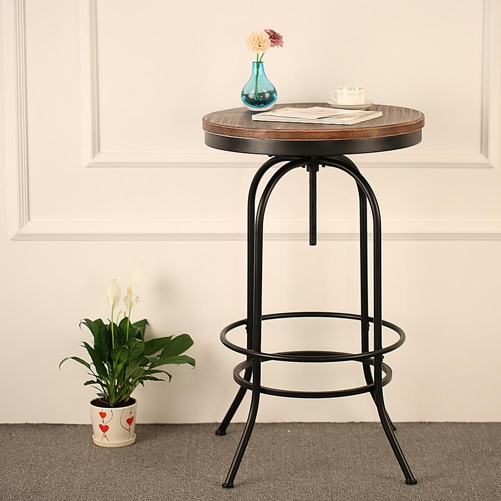 Ikayaa Pino tapa de madera mesa de café bar altura ajustable ...