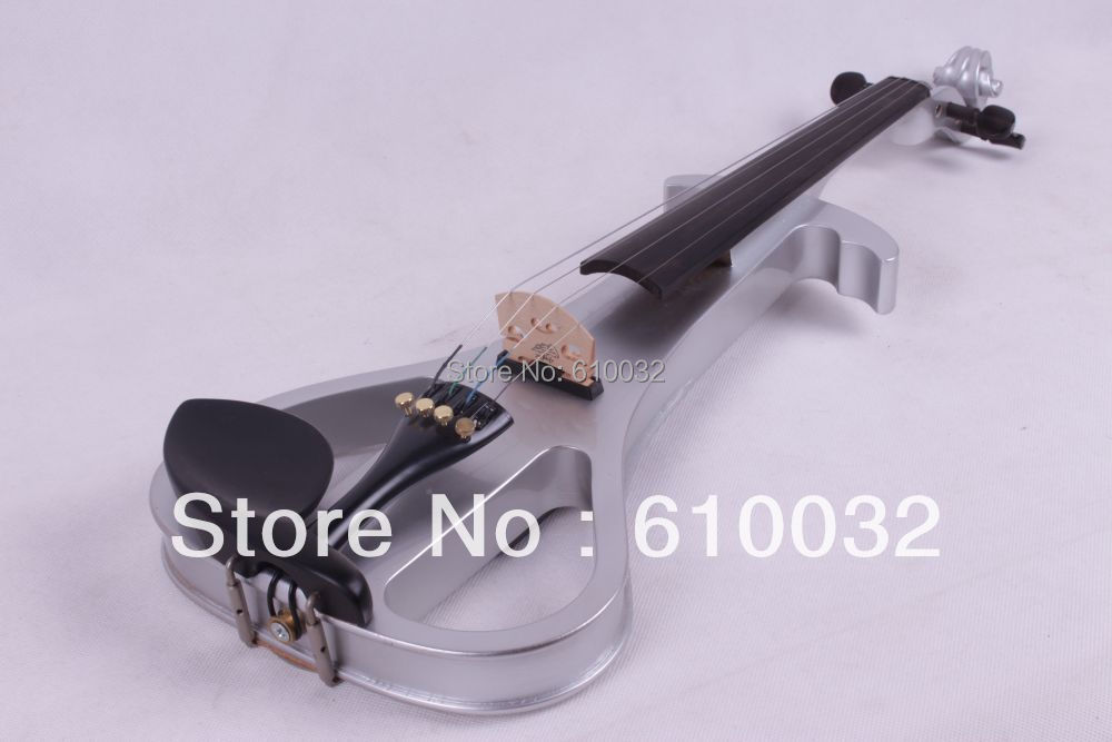 4/4 Electric Violin Solid wood 19--29#  dark Silver 4string 4 4 electric violin solid wood 6 18 silvery dark blue color 4 string