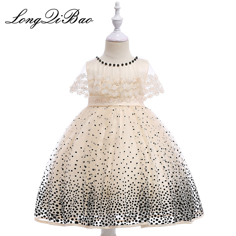 2018 Baby Girl Wedding Birthday Dress Girl Tulle Fancy Girl Party Costume for Kids Lace Robe Dress