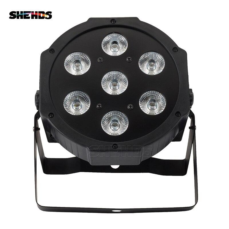 Luminosité élevée LED 7x12W RGBW Par lumière avec DMX512 entrée/sortie et entrée et sortie pour le divertissement à la maison de Disco de DJ d'effet de lavage