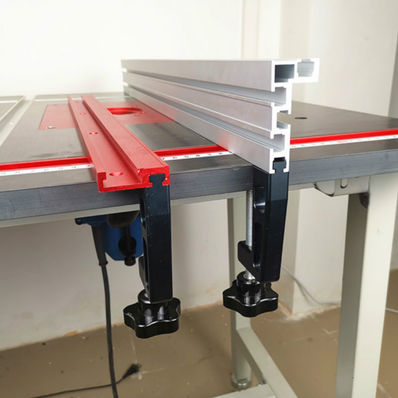 Купить с кэшбэком 1Pc Chute Aluminium alloy T-tracks Model 45 T slot and Standard Miter Track Stop Woodworking Tool for workbench Router Table