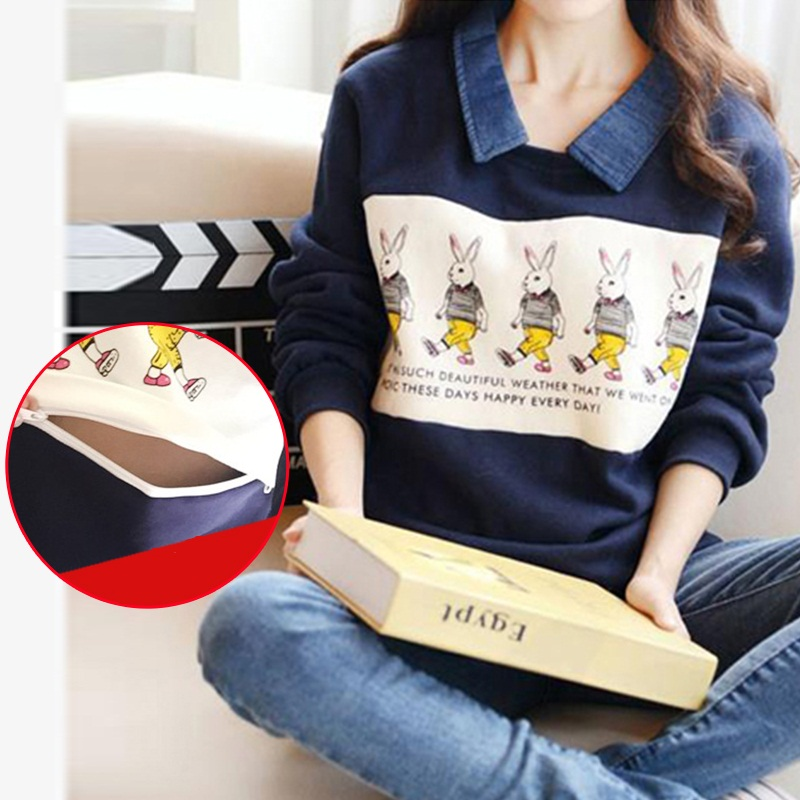 Autumn Winter Thickened Maternity Tops Breastfeeding Clothes Nursing tops Pregnancy Clothes For pregnant Women Maternity Hoodie