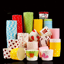 50pcs chocolate cake stand paper cup Christmas cupcake Muffin mold packaging kitchen Baking decorating tools AB577
